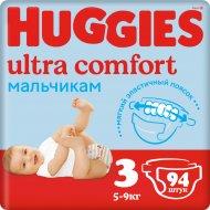 Подгузники «Huggies» Ultra Comfort для мальчиков, размер 3,5-9кг,94шт.