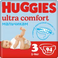 Подгузники «Huggies» Ultra Comfort, размер 3, 5-9 кг, 94 шт