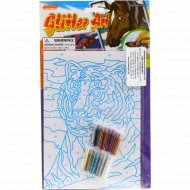 Игрушка-набор для детского творчества «Сверкающая картинка» тигр.