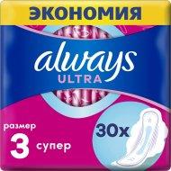 Женские гигиенические прокладки «Always» Ultra Super, 30 шт.