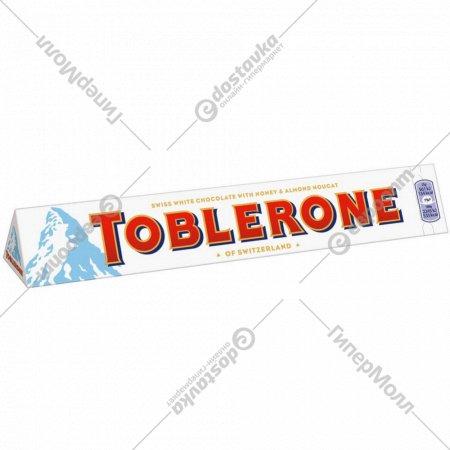 Шоколад «Toblerone» белый с медово-миндальной нугой, 100 г.