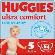 Подгузники «Huggies»Ultra Comfort для мальчиков,размер 5,12-22кг,64шт.