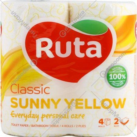 Туалетная бумага «Ruta» 18.7 м, 4 рулона.