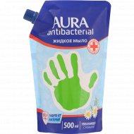 Жидкое мыло «Aura antibacterial» увлажняющее, с ромашкой, 500 мл.