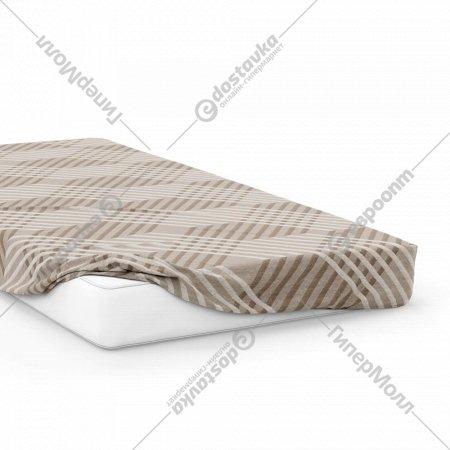 Простыня на резинке «Samsara» Капучино, 200x160, Сат160Пр