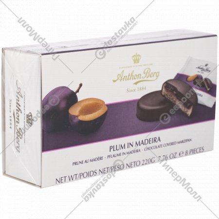 Конфеты шоколадные «Anthon Berg» с марципаном «Слива в вине», 220 гр.